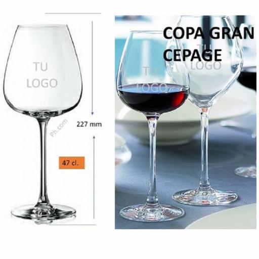 COPA GRAND CEPAGE 47cl, GRABADA CON SU LOGO [1]