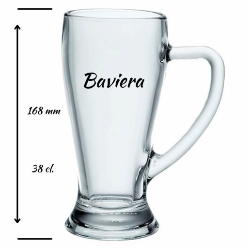 Jarra de Cerveza Personalizada Baviera 38 cl [1]