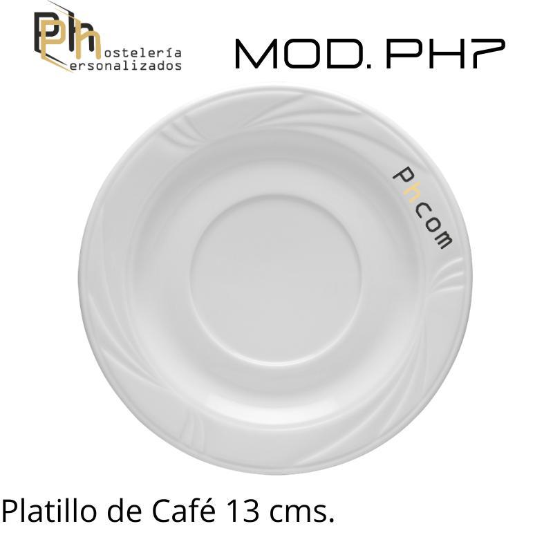 Platillo Café 13 cms. Personalizado a 1 color. MOD.PH7