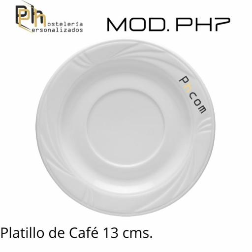 Platillo Café 13 cms. Personalizado a 1 color. MOD.PH7