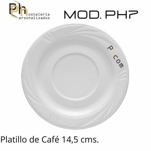 Platillo Café 14,5 cms. Personalizado a 1 color. MOD.PH7