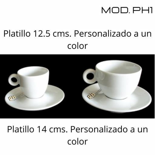 Platillo Café 12.5 cms. Personalizado a 1 color. MOD.PH1 [1]