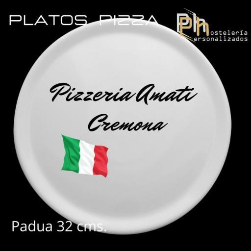 Plato de Pizza Personalizado Padua 32 cms.