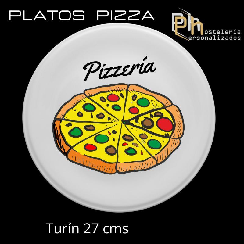 Plato de Pizza Personalizado Turín 27 cms.