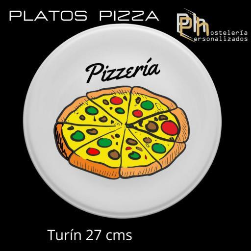 Plato de Pizza Personalizado Siena 30,5 cms. [2]