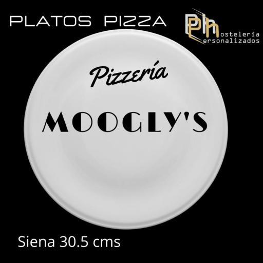 Plato de Pizza Personalizado Siena 30,5 cms.