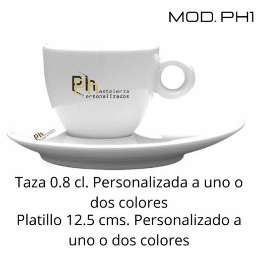 Taza 8 cl. Personalizada a 1 color. MOD.PH1