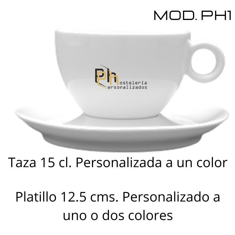 Taza 15 cl. Personalizada a 1 color. MOD.PH1