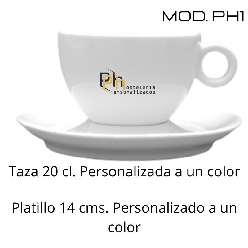 Taza 20 cl. Personalizada a 1 color. MOD.PH1