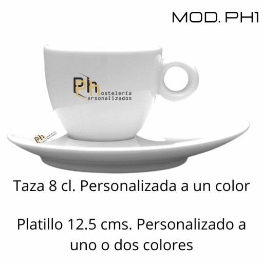 Taza 15 cl. Personalizada a 1 color. MOD.PH1 [2]