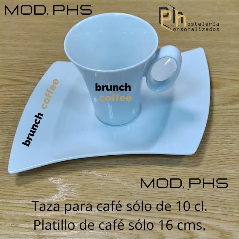 Taza y Platillo Personalizada para 10 cl. a 1 color. MOD.PH5