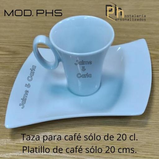 Taza y Platillo Personalizada para 10 cl. a 1 color. MOD.PH5 [3]