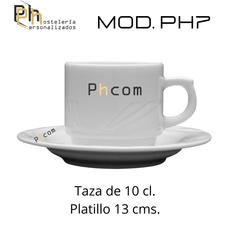 Taza 10 cl. Personalizada a 1 color. MOD.PH7