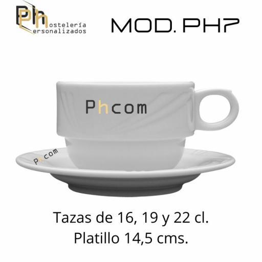 Taza 22 cl. Personalizada a 1 color. MOD.PH7