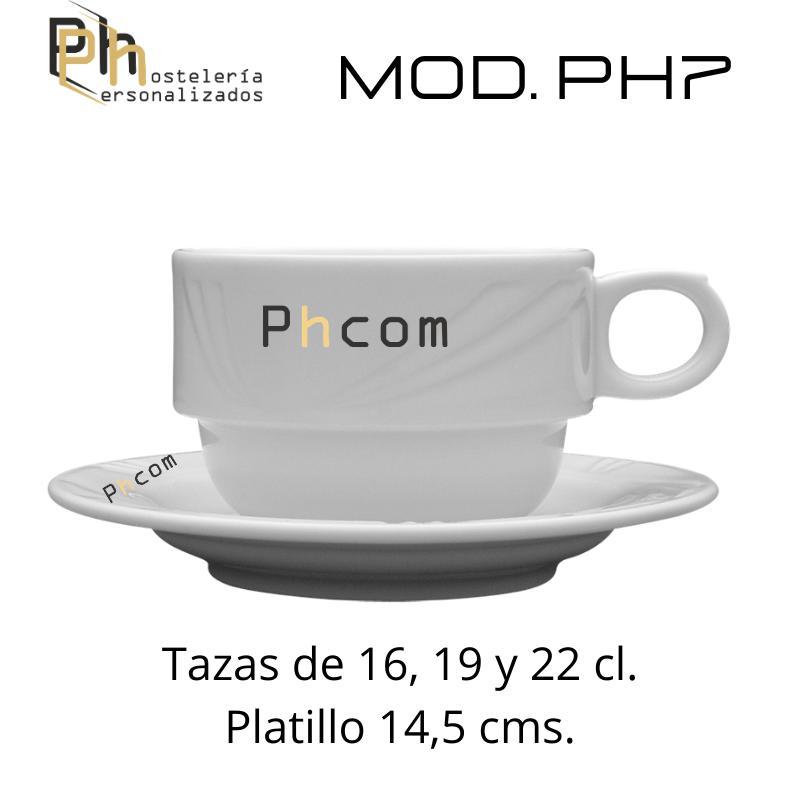 Taza 19 cl. Personalizada a 1 color. MOD.PH7