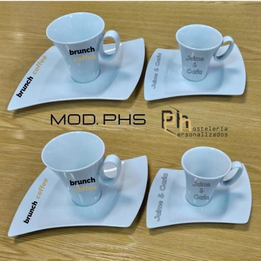 Taza y Platillo Personalizada para 10 cl. a 1 color. MOD.PH5 [2]