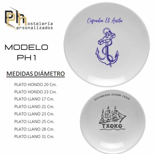 Plato llano Personalizado PH1
