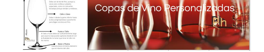 Logos en las copas de vino personalizadas