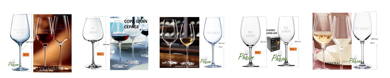 Copas de vino grabadas y personalizadas