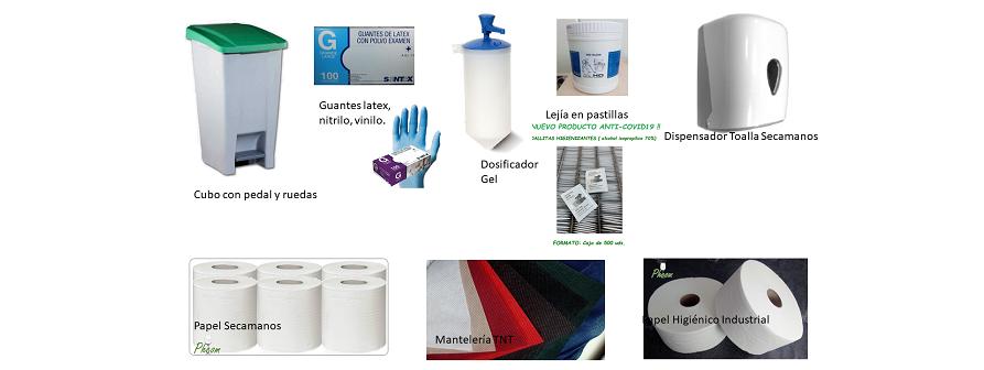 Productos para comenzar con la nueva situación COVID19