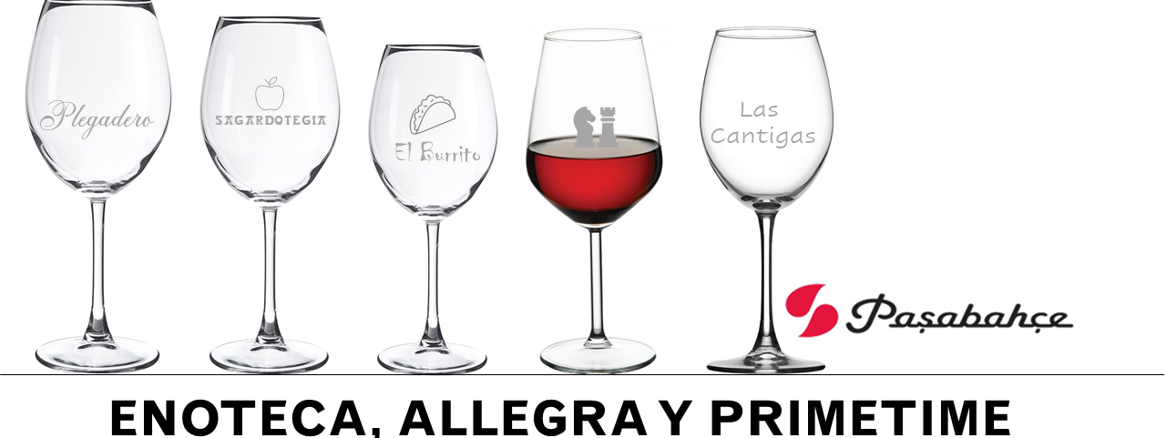 Copas de vino personalizadas para hostelería