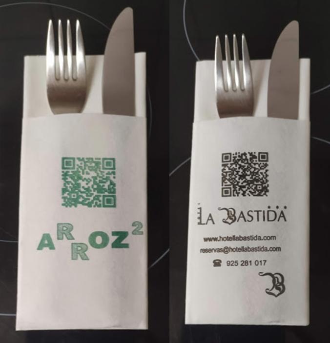 Servilletas Canguro Personalizadas con logo  y código QR