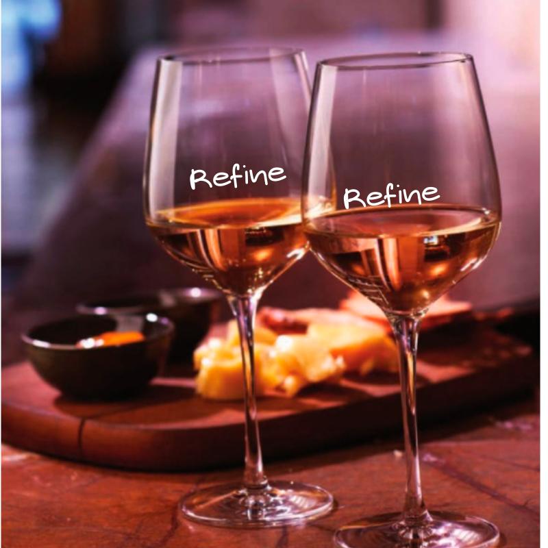 Copas de Vino Personalizadas Refine. NUDE Cristal