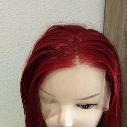 Peluca lace front, rojo oscuro [2]