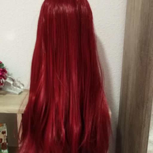 Peluca lace front, rojo oscuro [3]
