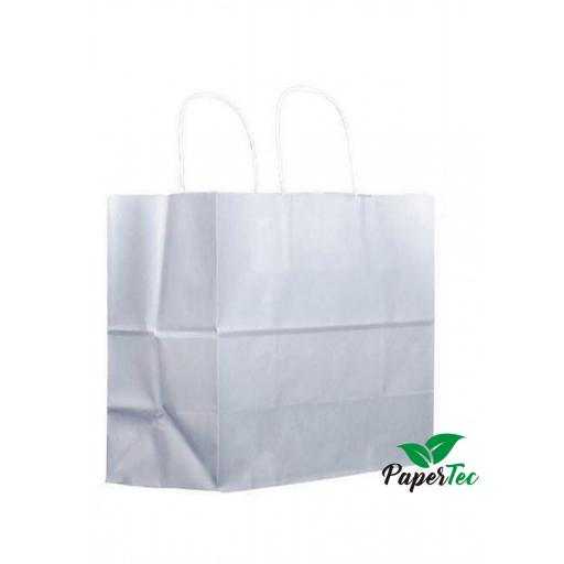 Bolsa asa rizada blanca base ancha (take away)