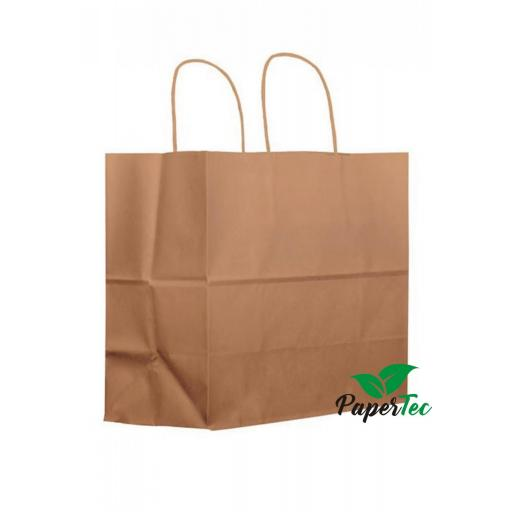 Bolsa asa rizada kraft base ancha (take away)