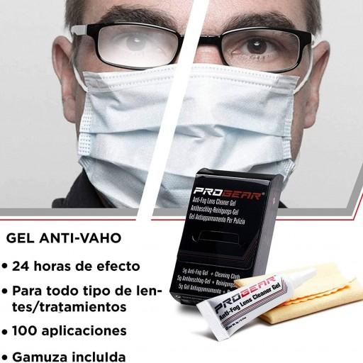 Gel limpiador de lentes antivaho Progear [2]