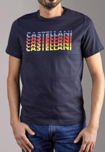 Camiseta Logo Repetido (Azul Marino)