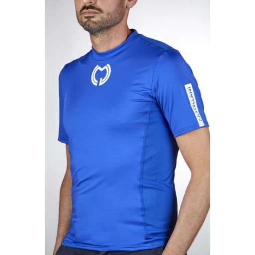 Camiseta Técnica Manga Corta Azul