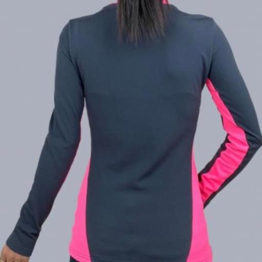 Camiseta Hidro Mujer Gris y Rosa [1]