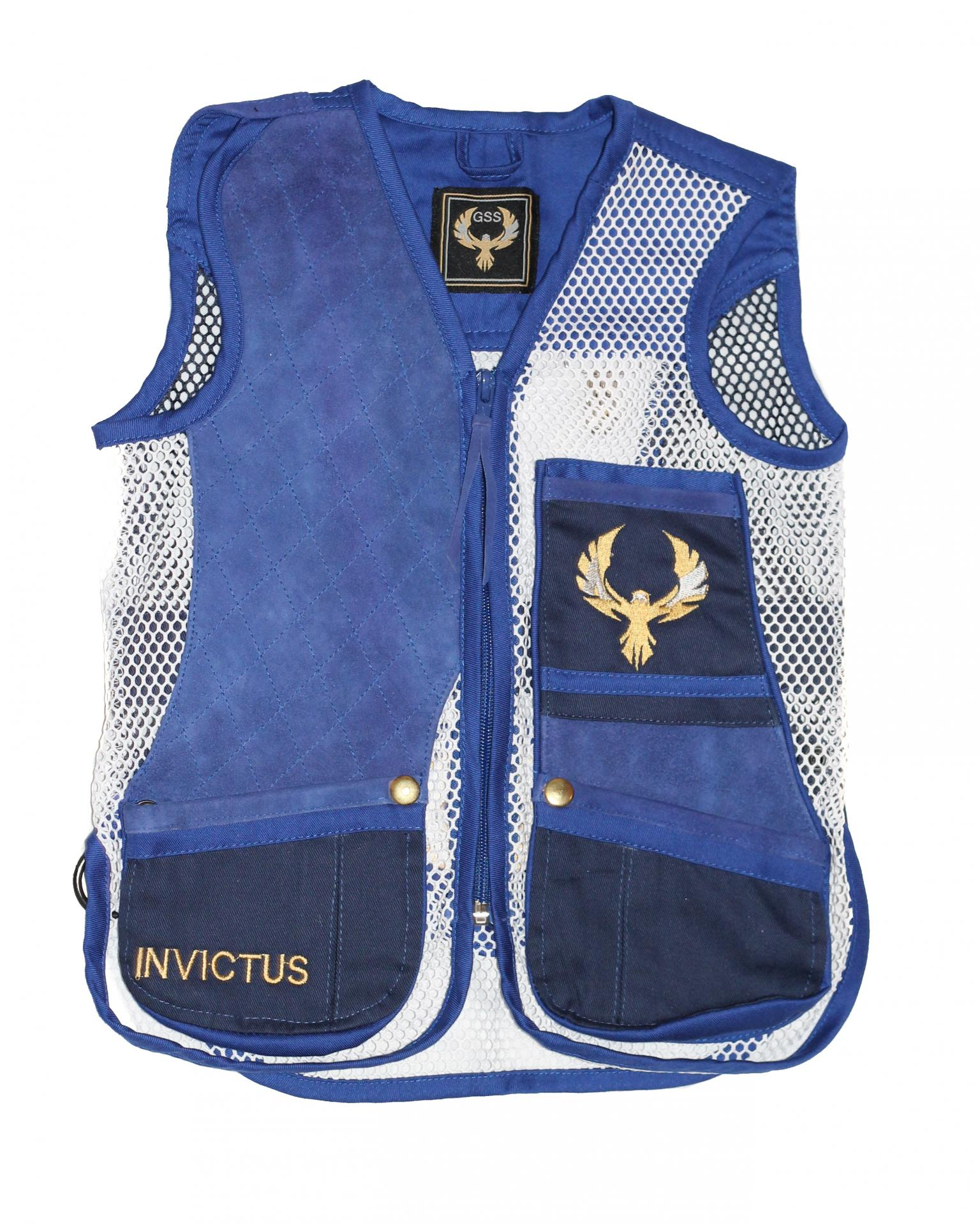 Mini chaleco GSS INVICTUS (Azul y Blanco)