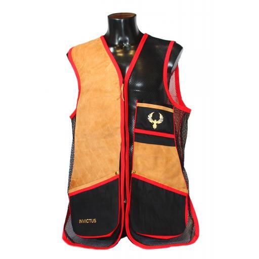 Chaleco GSS INVICTUS (Rojo y Negro)