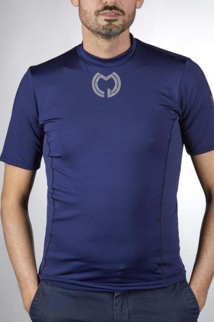 Camiseta Técnica Manga Corta Azul Marino