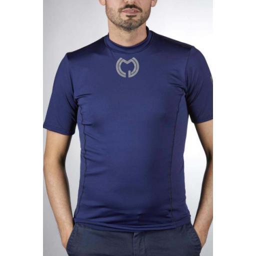 Camiseta Técnica Manga Corta Azul Marino [0]