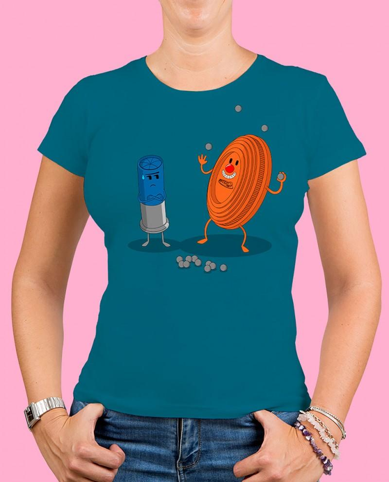 "Camiseta mujer TUTIRO ""PAYASETE"" (Azul)"