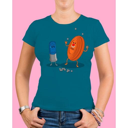 "Camiseta mujer TUTIRO ""PAYASETE"" (Azul) [0]"
