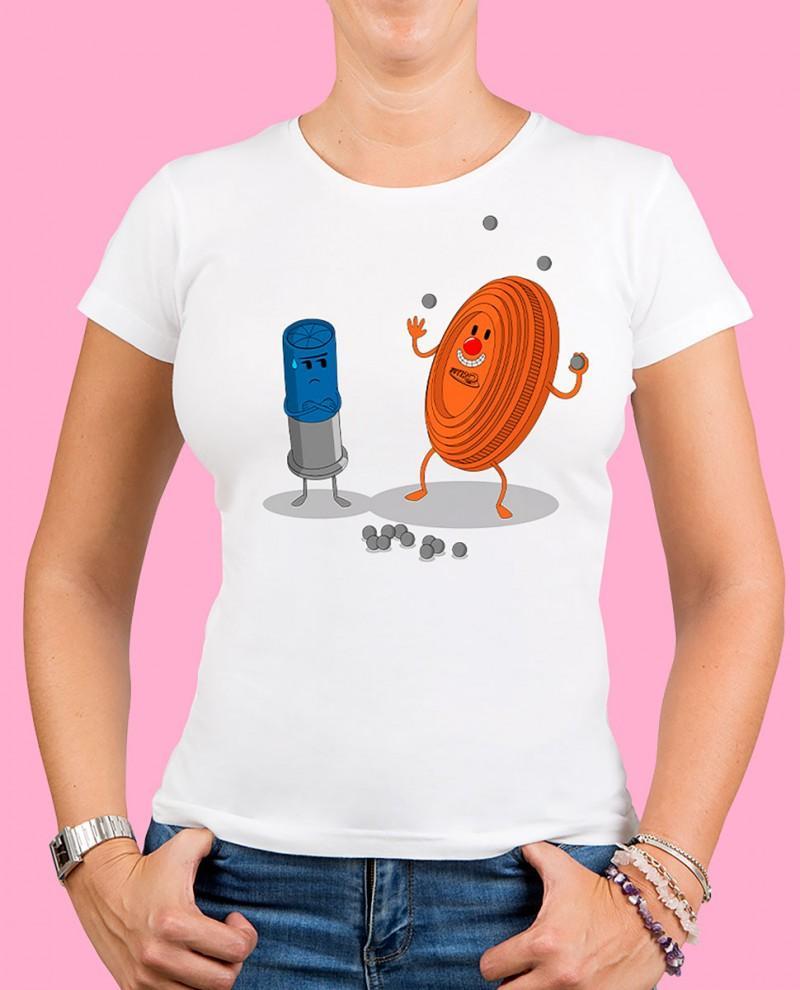 "Camiseta mujer TUTIRO ""PAYASETE"" (Blanca)"