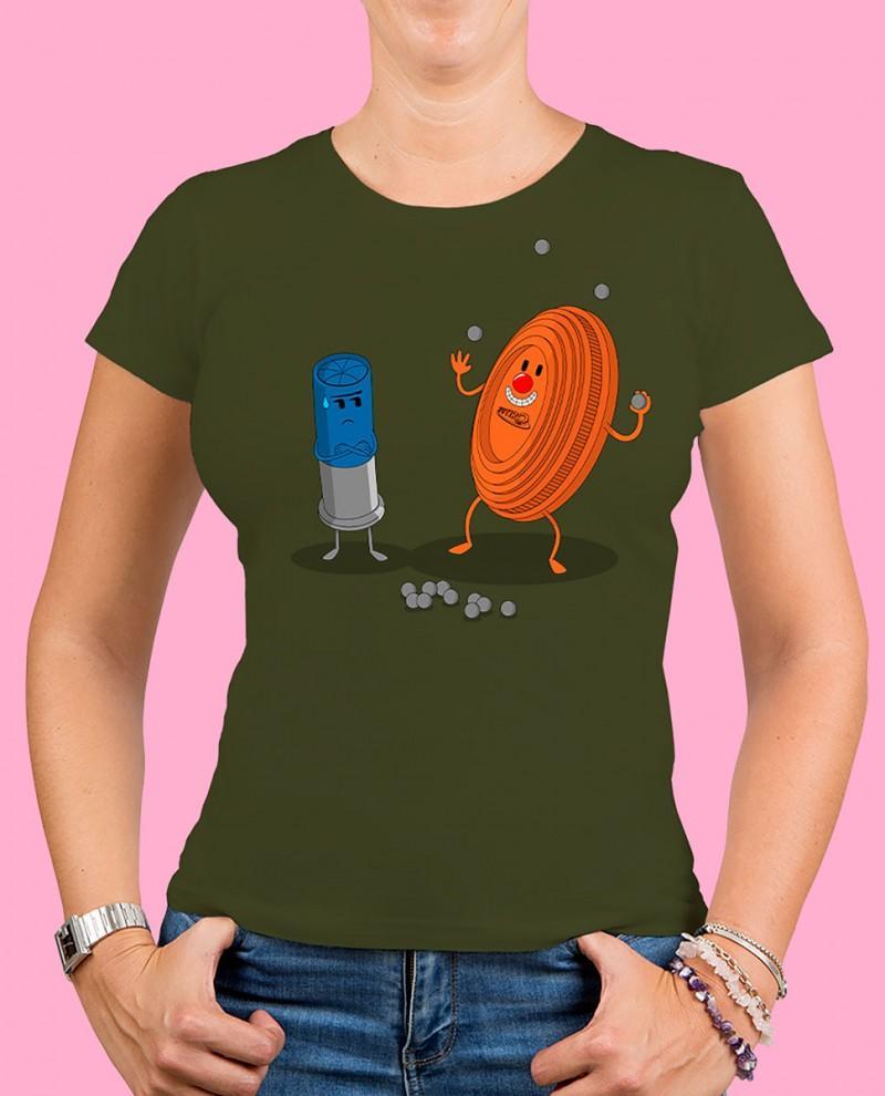 "Camiseta mujer TUTIRO ""PAYASETE"" (Verde)"