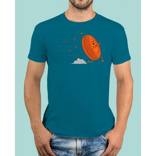 "Camiseta TUTIRO ""A LA FUGA"" (Azul)"