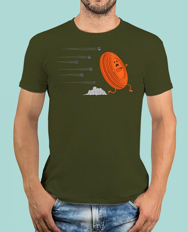 """Camiseta TUTIRO """"A LA FUGA"""" (Verde)"""