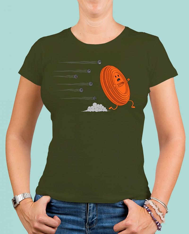 """Camiseta mujer TUTIRO """"A LA FUGA"""" (Verde)"""