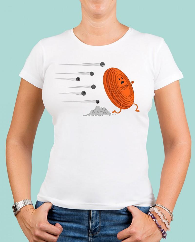 "Camiseta mujer TUTIRO ""A LA FUGA"" (Blanca)"