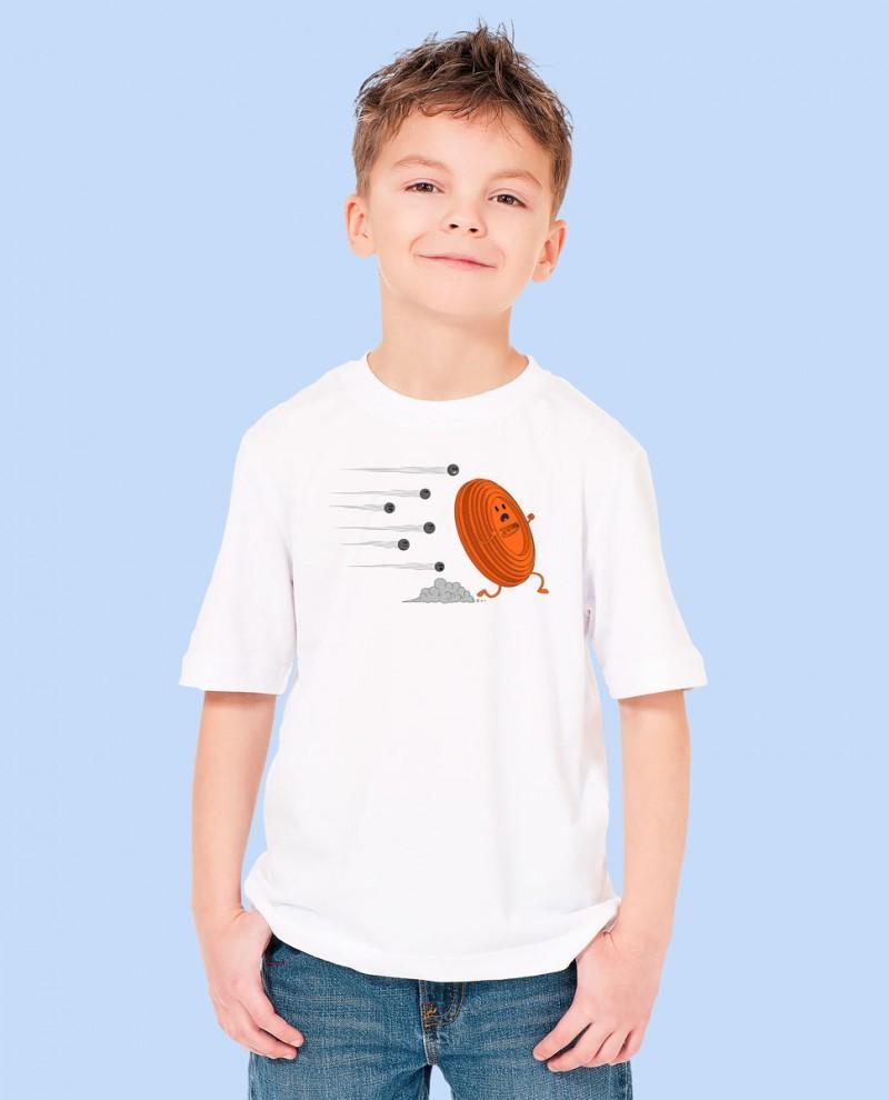 """Camiseta Niñ@ TUTIRO """"A LA FUGA"""" (Blanca)"""