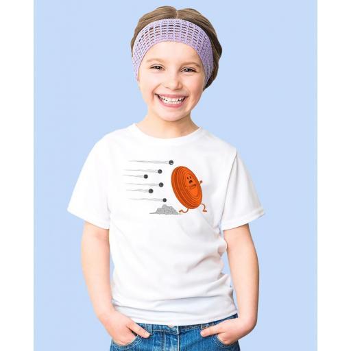 """Camiseta Niñ@ TUTIRO """"A LA FUGA"""" (Blanca) [1]"""