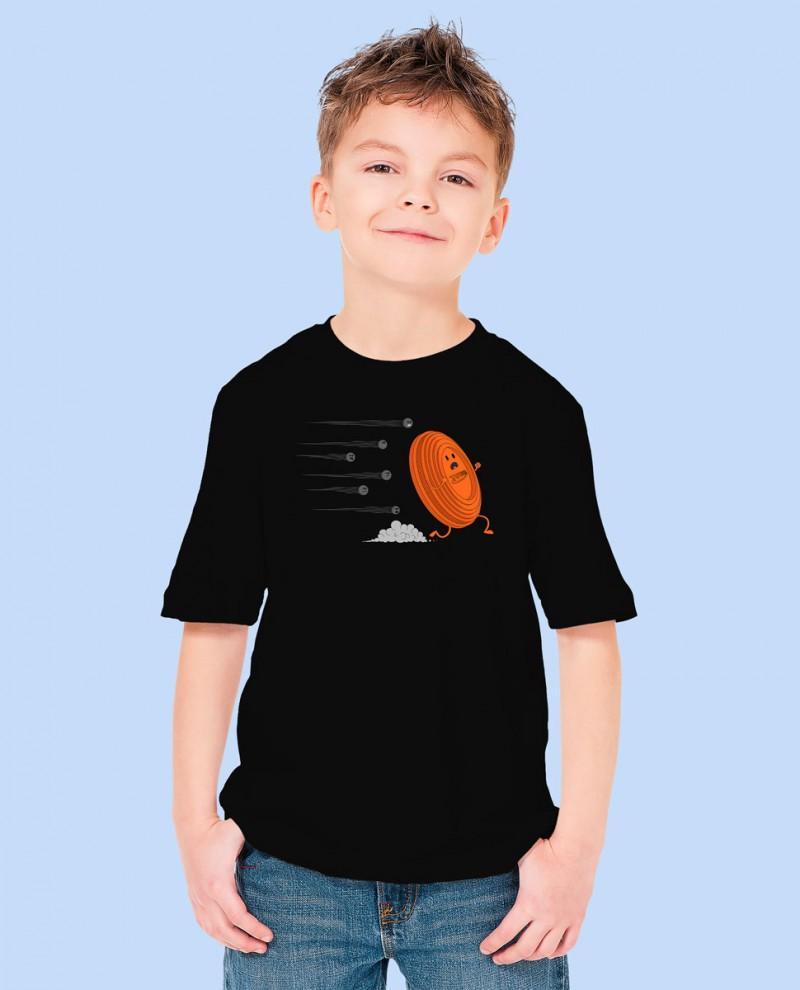 """Camiseta Niñ@ TUTIRO """"A LA FUGA"""" (Negra)"""